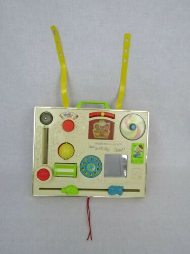 Vintage Fisherprice Baby Crib Activity Play Center Toy Sounds Colorful Straps