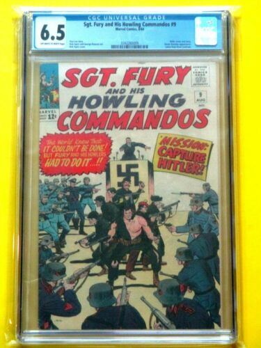 Sgt. Fury and His Howling Commandos #9 - CGC 6.5 - Classic Hitler Cover