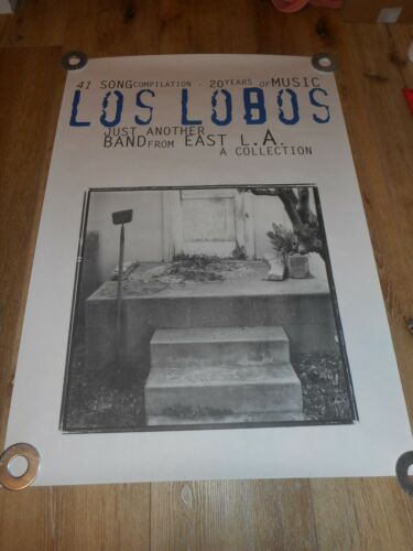 LOS LOBOS -  JUST ANOTHER BAND FROM EAST L.A.- ORIGINAL SS PROMO POSTER
