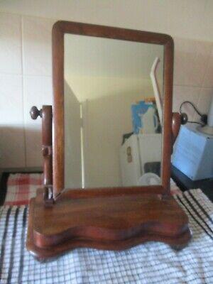 Antique dresser top vanity swing mirror