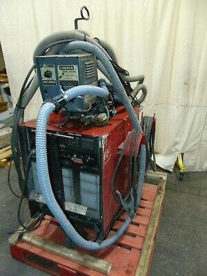 Lincoln Idealarc Cv400 400 Amp Arc Welder With Ln-7 Wire Feeder And Smoke Vacuum