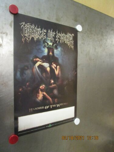 CRADLE OF FILTH Hammer Of The Witches Promo Poster New! Unused! Nuclear Blast 15
