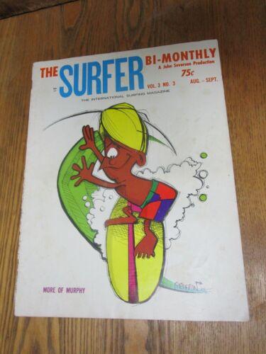 SURFER MAGAZINE John Severson Vol-3 No-3 MURPHY Cover By Rick Griffin 1962 RARE