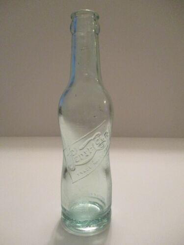 PEPSI:COLA PEANUT PINCHED 6 1/2 Oz Embossed Green Soda Bottle Vintage