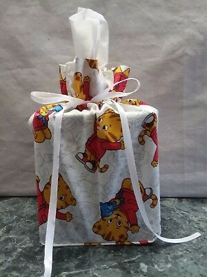 Daniel Tiger on Cotton Fabric Handmade square Tissue Box Cover - Daniel Tiger Fabric
