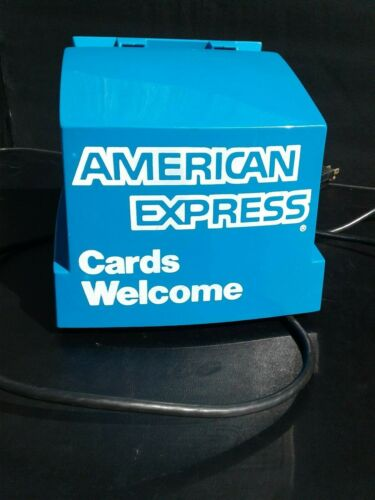 Vintage American Express Electric Addressograph Credit Card Imprinter Machine