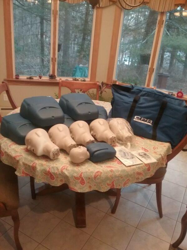 CPR training mannequins