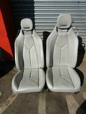 MERCEDES SLK R171 GREY LEATHER SEATS ELECTRIC 2005 PAIR