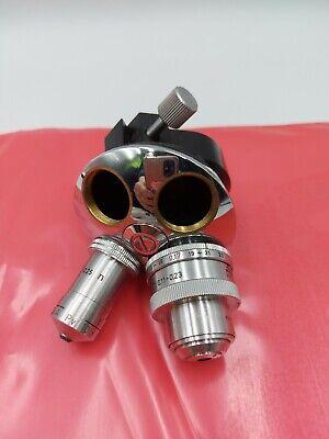 Vintage Leitz Wetzlar Microscope Turret W2 Objectives