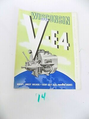 Wisconsin Air Cooled Heavy Duty Engines V-e4 Sales Brochure