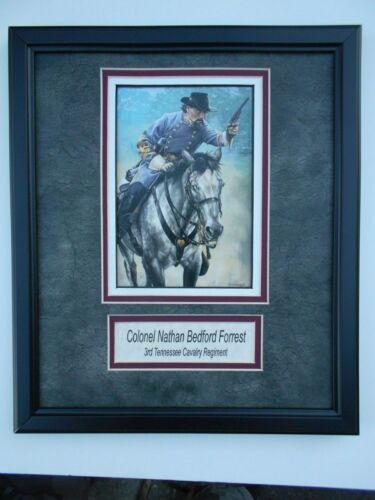 """""""Colonel Nathan Bedford Forrest""""   framed art"""