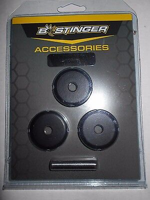 @NEW@ 1- 3pk. B-Stinger Freestyle/Sport Hunter 1 oz. Stabilizer Weights, black, used for sale  Philadelphia
