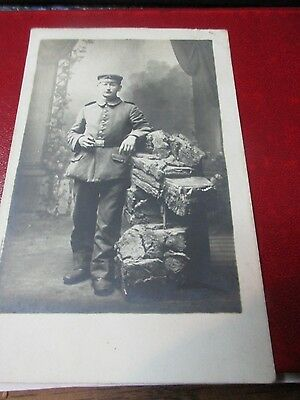 Militaria - WWI - Photo Postcard of German Soldier
