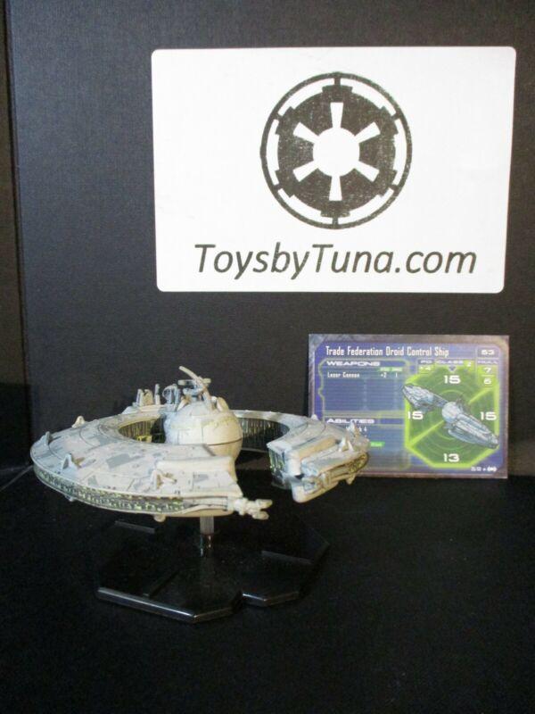 Star Wars Miniatures Starship Battles Trade Federation Droid Control Ship w/Card