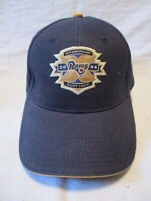 ST LOUIS RAMS 2004 10th ANNIVERSARY BALL CAP EDWARD JONES -