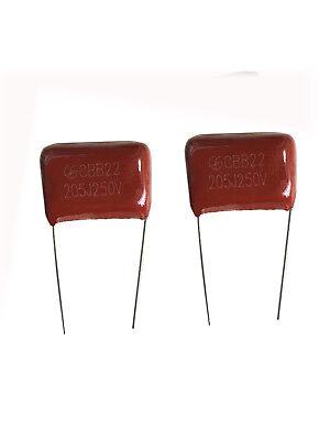 10pcs Metal Film Capacitors Cbb22 205j 250v 2uf 5 Us Stock Free Shipping