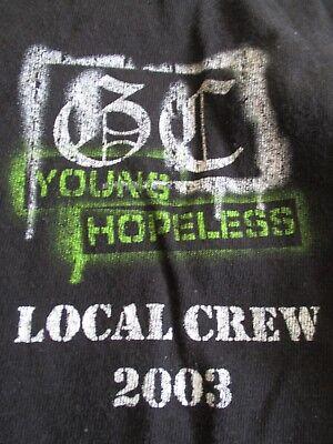 "Rare 2003 GOOD CHARLOTTE ""Young Hopeless"" Local CREW Concert Tour (XL) T-Shirt"