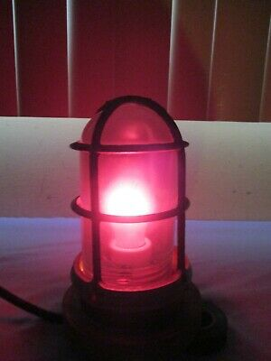 Glass Globe Industrial Vintage Crouse Hinds Explosion Proof Cage Light Fixture