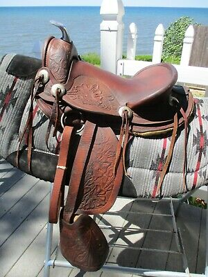 Details about  /USED 10 12 13 WESTERN SADDLE BARREL RACING YOUTH KIDS CHILD PONY TRAIL PLEASURE
