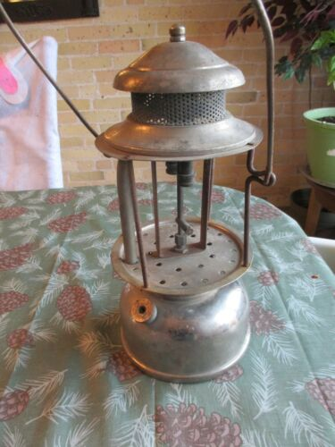 1920s WUNDER NULITE M2 DOUBLE MANTLE PRESSURE LAMP LANTERN NOT COLEMAN FOR PARTS