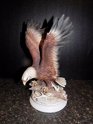 Homco Home Interiors Masterpiece Porcelain Bald Eagle Statue Figure 1979 Bird