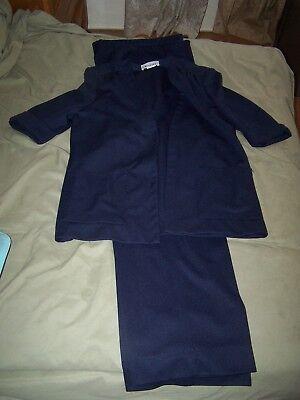Vintage Devon Blue Pant Suit Size 12 in EXCELLENT SHAPE, NO WEAR