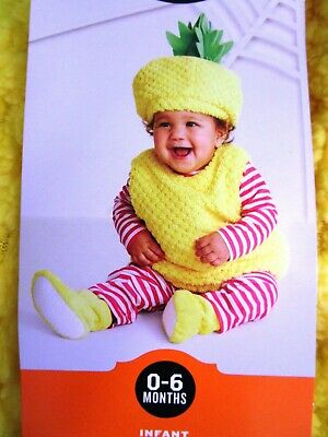 🍍 Baby PINEAPPLE Costume New w/Tag CUTE PHOTOS * Size 0 - 6 Months 5 Piece Set](Pineapple Baby Costume)