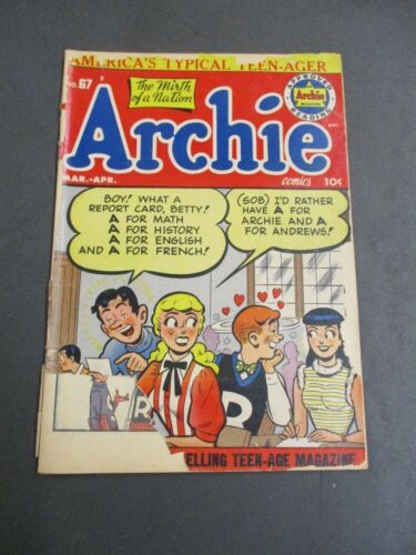 ARCHIE # 67  1954  ARCHIE COMICS  READER COMIC