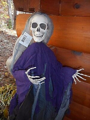 Grim Reaper Hanging Skeleton Halloween Decoration Prop Haunted House New 4 Foot - Grim Reaper Halloween Props