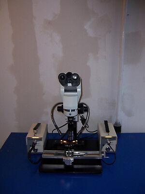 9816 Olympus U-ebti Microscope W Ergo Head Navitar Zoom W Mitutoyo 5x Lens