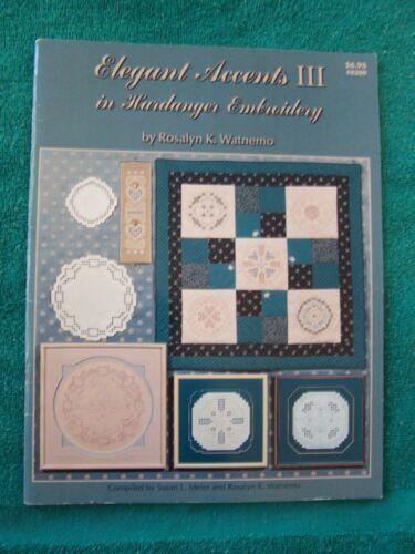 Elegant Accents III in Hardanger Embroidery Rosalyn K Watnemo #0209