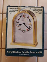 Howard Miller Song Birds of North America III Table Clock Musical B6