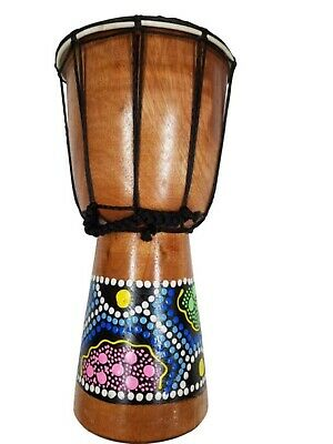"7"" Tall African Aboriginal Painted Decorative Djembe Drum Doumbek Darbuka"
