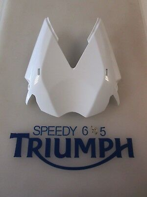 TRIUMPH STREET TRIPLE & R UNDERTRAY PANEL CRYSTAL WHITE A9708342 NW 2013 ONWARDS