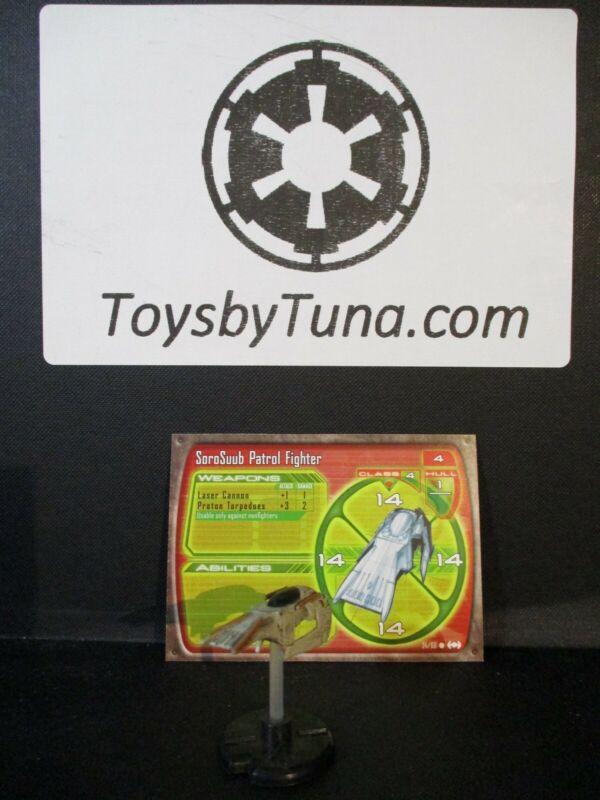 Star Wars Miniatures Starship Battles SoroSuub Patrol Fighter w/ Card mini RPG