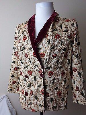 Vintage Victoria's Secret Fanny Liautard Women's Silk Jacket Size Small Paris