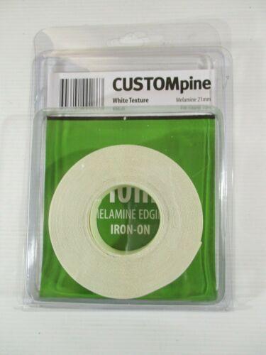 Custompine White Texture Melamine 21mm Pre-glued 10m Brand new Product No.44830