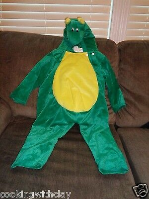 Chrisha Playful Plush Green Winged Horned Dragon Costume Size 2 4 Play Pretend