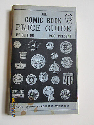 RARE 1970 OVERSTREET COMIC BOOK PRICE GUIDE # 1  MID GRADE