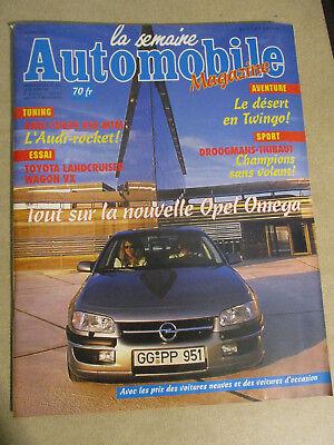 LA SEMAINE AUTOMOBILE: n°387: 12/03/1994: OPEL OMEGA - TOYOTA LAND CRUISER - RSR