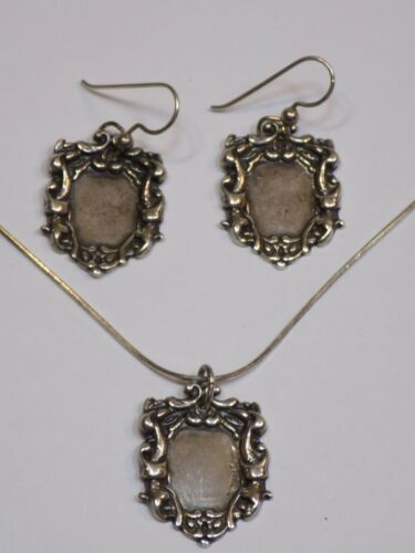 T Foree .925 Sterling Silver Necklace Hunsicker Signed Jewelry Earrings Set Lot