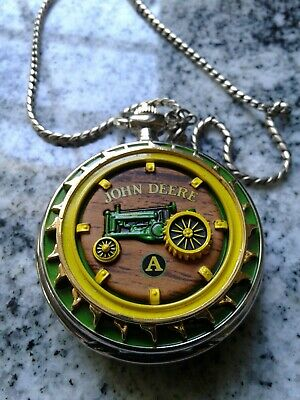 """.John Deere """"Model A"""" pocket watch Franklin Mint. WORKING &KIPPING TIME."""
