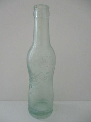 PEPSI:COLA PINCHED PEANUT 6 1/2 Oz Embossed Green Soda Bottle Vintage