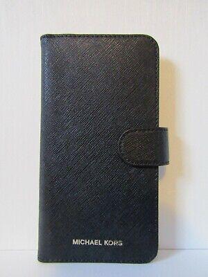 Michael Kors Leather Phone Case/Wallet (Black) - iPHONE 7 Plus, 8 Plus