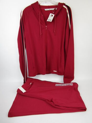 RARE NWT Tommy Hifliger Vintage Track Warm Up Suit 2 Piece Red Size XL NOS NEW