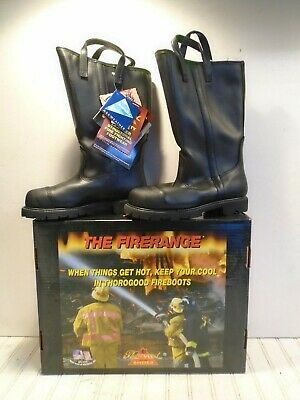 Thorogood Firerange Structural Fire Boots 804-6373 Size 8-12m New Old Stock