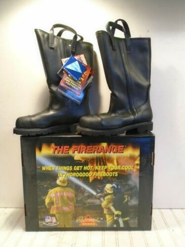 Thorogood Firerange Structural Fire Boots 804-6373 - Mens Size 9M NEW OLD STOCK