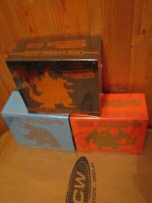 POKEMON XY EVOLUTION CHARIZARD & BLASTOISE + CHAMPION'S PATH ELITE TRAINER BOXES