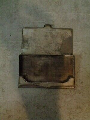 Vintage Silver Plated Business Card Holder