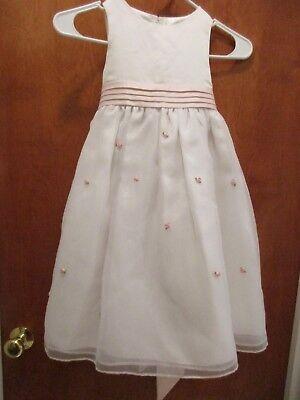 Cinderella Girls Dress Flower Girl Communion Fancy White/Pink Rosebuds Sz 5 NICE](Cinderella Communion Dresses)